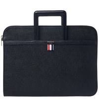 Thom Browne Leather Briefcase Black