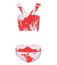 Ganni Exclusive To Mytheresa.Com Ipanema Smocked Bikini Red