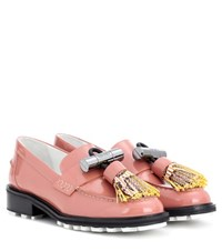 Kenzo Georgia Patent Leather Loafers Pink