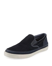 John Varvatos Jet Canvas Slip On Sneaker Blue