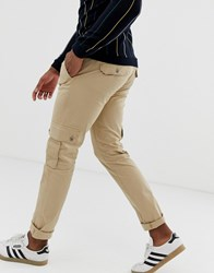United Colors Of Benetton Cargo Pants In Tan Brown