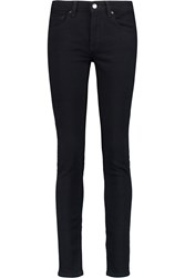 Victoria Beckham Mid Rise Skinny Jeans Blue