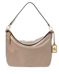 Ralph Lauren Medium Bramfield Callen Hobo Truffle Gold
