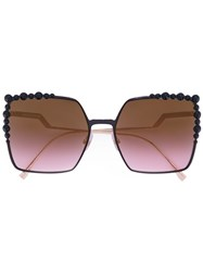 Fendi 'Can Eye' Sunglasses Women Metal Other One Size Black