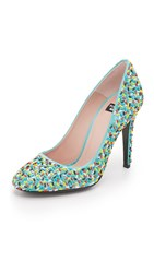 Boutique Moschino Sprinkle Beaded Pumps Multi