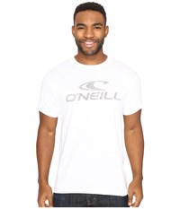 O'neill Supreme Short Sleeve Screen Tee White Men's Short Sleeve Pullover