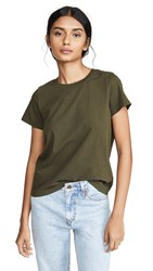 Madewell Harley Crew Neck Tee Dried Olive