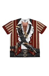 Faux Real 'Swashbuckler Pirate' Novelty T Shirt Red