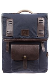 Will Leather Goods Men's 'Mt. Hood' Backpack Blue Navy