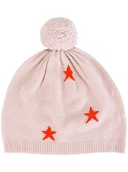 Chinti And Parker Star Intarsia Hat Pink And Purple