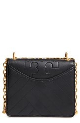 Tory Burch Chevron Quilted Leather Crossbody Bag Black