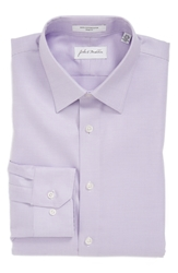 John W. Nordstrom Trim Fit Non Iron Solid Dress Shirt Lavender Mist