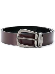 Baldinini Silver Buckle Belt Red