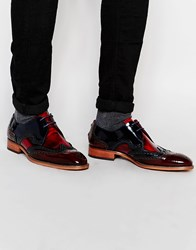 Jeffery West Brogue Shoes Red