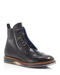 Ted Baker Garthh Wingtip Dress Boots Grey Shine