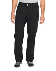 Jack Wolfskin Softshell Weather Resistant Convertible Pants Night Blue