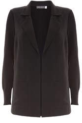 Mint Velvet Black Cupro Boyfriend Cardigan Black