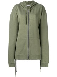 Faith Connexion Oversized Zipped Hoodie Women Cotton S Green