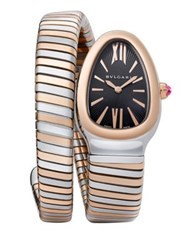 Bulgari Serpenti 18K Rose Gold And Stainless Steel Tubogas Bracelet Watch