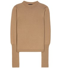 The Row Deanna Wool And Cashmere Knitted Sweater Brown