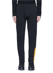 Mcq By Alexander Mcqueen Block Print French Terry Sweatpants Black