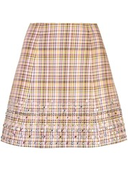 Carolina Herrera Plaid A Line Mini Skirt Multicolour