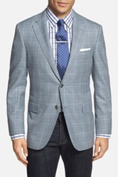 Hickey Freeman 'Beacon' Classic Fit Check Wool Sport Coat Blue