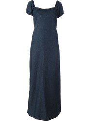 Walter Van Beirendonck Vintage Long Denim Dress Blue