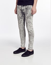 Cheap Monday Low Spray Jeans In Super Skinny Fit Ice Wash Grey