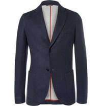 Loro Piana Slim Fit Cashmere Blend Blazer Blue
