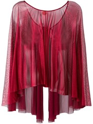 Maria Lucia Hohan Sheer Round Neck Blouse Red