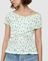 Creatures Of Comfort Bentley Blouse In Yellow Floral