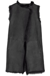 Theory Shearling Gilet Anthracite
