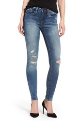 Blank Nyc Women's Blanknyc Cofffee Nap Ripped Skinny Jeans Medium Wash