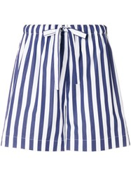 Aspesi Striped Drawstring Shorts Blue
