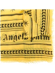 Palm Angels Geometric Print Scarf Yellow And Orange
