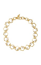 Nicole Romano 18K Gold Plated Bolt Crystal Necklace