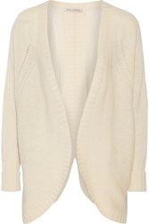 Autumn Cashmere Open Knit Cashmere Cardigan White