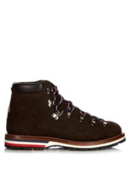 Moncler Peak Ankle Boots Brown Multi