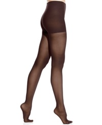 Dkny Comfort Luxe Semi Opaque Control Top Tights Chocolate Brown