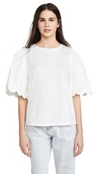 English Factory A Line Puff Sleeve Top White