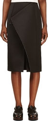 Roksanda Black Folded Panel Balmont Skirt