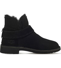 Ugg Mckay Sheepskin Lined Suede Ankle Boots Black
