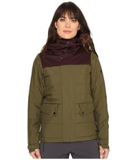 686 Authentic Runway Insulated Jacket Olive Color Block Women's Jacket Multi