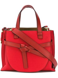 Loewe Small Gate Top Handle Bag Red