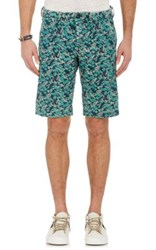 Mason's Men's Botanical Twill Shorts Green