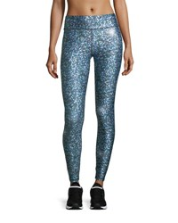 Terez Glitter Night Skies Tall Band Performance Leggings Multi