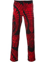 Jean Paul Gaultier Vintage Printed Trousers Black