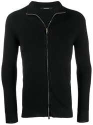 Tagliatore Zipped Sweatshirt Black
