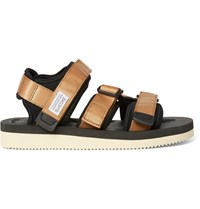 Suicoke Kisee V Webbing And Neoprene Sandals Metallic